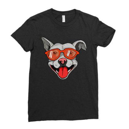 Grey Big Dog Ladies Fitted T-shirt Designed By Mysticalbrain