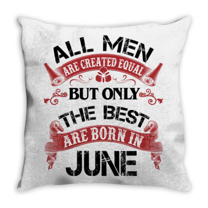 All Men Are Created Equal But Only The Best Are Born In March For Dark Throw Pillow Designed By Sengul