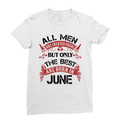 All Men Are Created Equal But Only The Best Are Born In March For Dark Ladies Fitted T-shirt Designed By Sengul