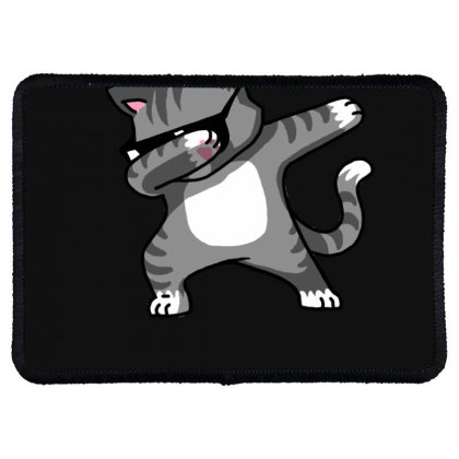 Dabbing Cat Funny Shirt Dab Hip Hop Dabbing Kitten Rectangle Patch Designed By Vomaria