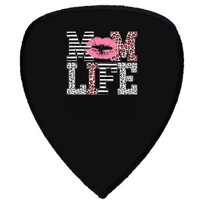 Mom Life Lip Shield S Patch Designed By Badaudesign