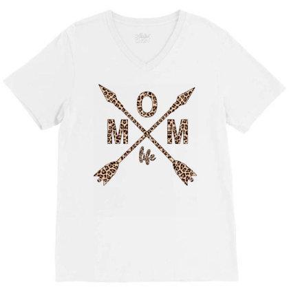 Mom Life V-neck Tee Designed By Badaudesign