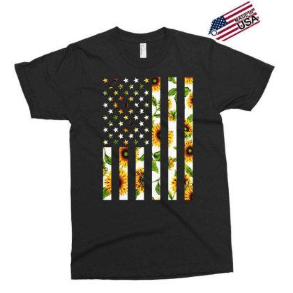 Sunflower American Flag Exclusive T-shirt Designed By Badaudesign