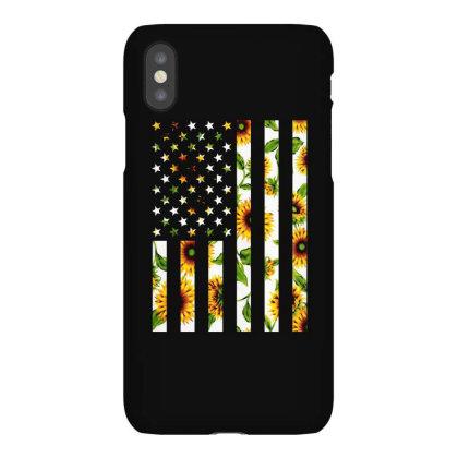 Sunflower American Flag Iphonex Case Designed By Badaudesign