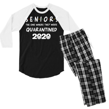 Seniors The One Where They Were Quarantined 2020 Men's 3/4 Sleeve Pajama Set Designed By Badaudesign