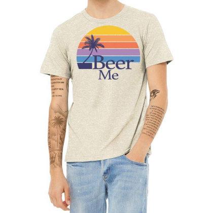 Beer Me Sunset Heather T-shirt Designed By Badaudesign
