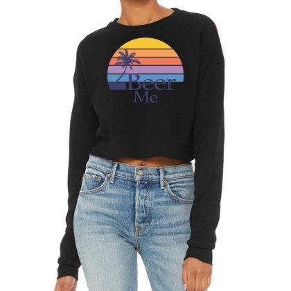Beer Me Sunset Cropped Sweater Designed By Badaudesign