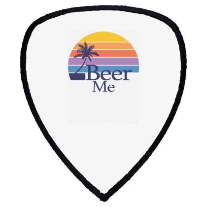 Beer Me Sunset Shield S Patch Designed By Badaudesign