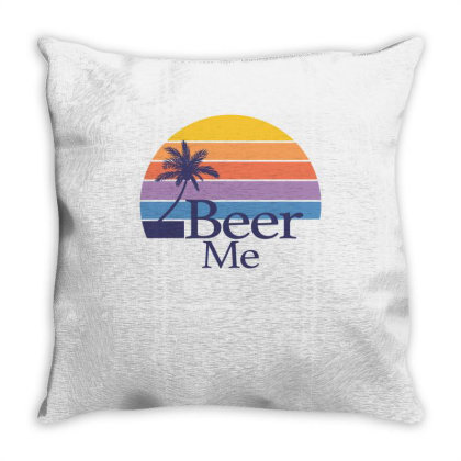 Beer Me Sunset Throw Pillow Designed By Badaudesign