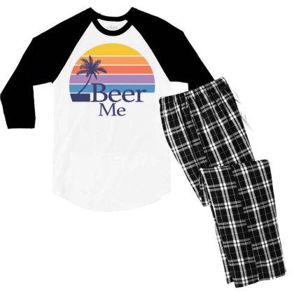 Beer Me Sunset Men's 3/4 Sleeve Pajama Set Designed By Badaudesign