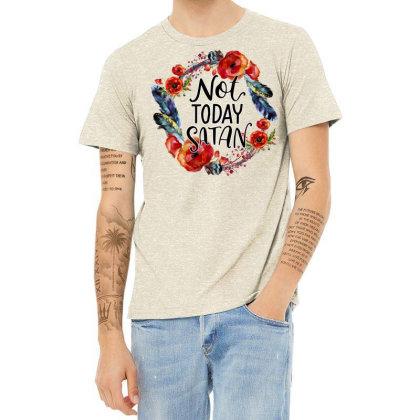 Not Today Satan Heather T-shirt Designed By Badaudesign