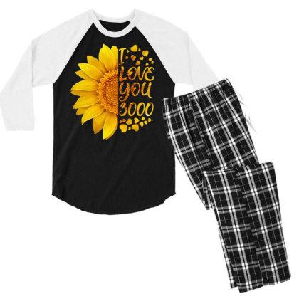 I Love You 3000 Men's 3/4 Sleeve Pajama Set Designed By Badaudesign