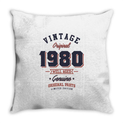 Since 1980 Tshirt Throw Pillow Designed By Cidolopez