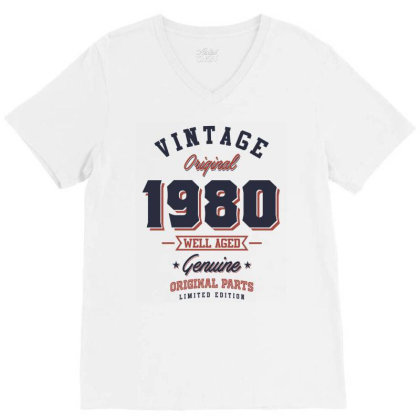 Since 1980 Tshirt V-neck Tee Designed By Cidolopez
