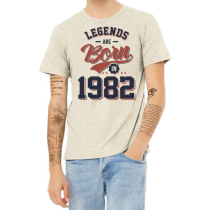Legends Are Born In 1982 Birthday Gift Heather T-shirt Designed By Cidolopez