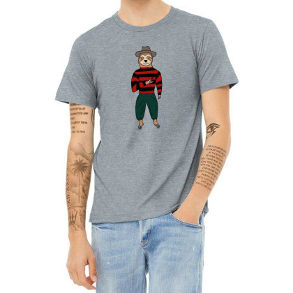 Sloth Krueger Heather T-shirt Designed By Cypryanus