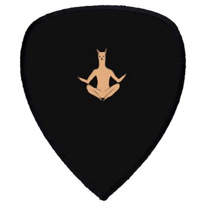 Llama Meditation Shield S Patch Designed By Cypryanus