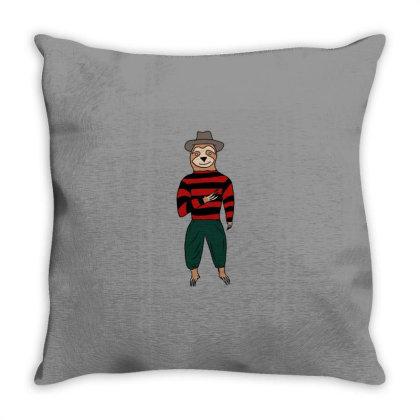 Sloth Krueger Throw Pillow Designed By Cypryanus