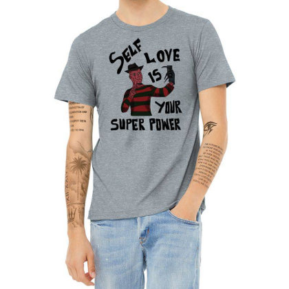 Self Love Is Your Super Power Heather T-shirt Designed By Cypryanus
