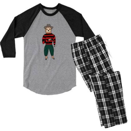 Sloth Krueger Men's 3/4 Sleeve Pajama Set Designed By Cypryanus