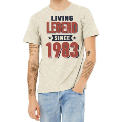 Living Legend Since 1983 Birthday Gift Heather T-shirt Designed By Cidolopez