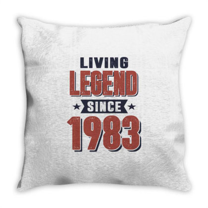 Living Legend Since 1983 Birthday Gift Throw Pillow Designed By Cidolopez