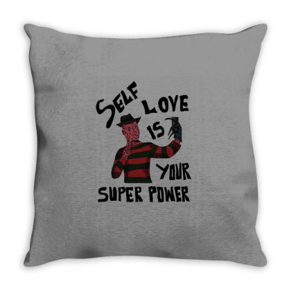 Self Love Is Your Super Power Throw Pillow Designed By Cypryanus