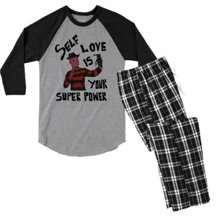 Self Love Is Your Super Power Men's 3/4 Sleeve Pajama Set Designed By Cypryanus
