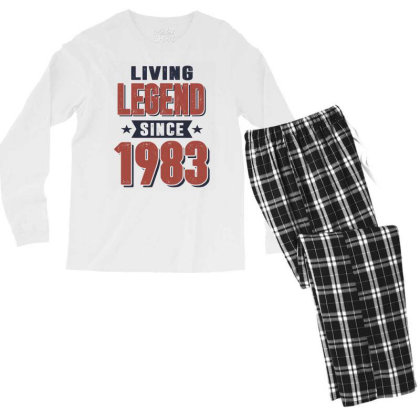 Living Legend Since 1983 Birthday Gift Men's Long Sleeve Pajama Set Designed By Cidolopez