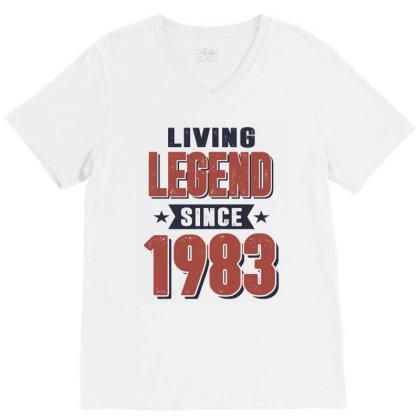 Living Legend Since 1983 Birthday Gift V-neck Tee Designed By Cidolopez