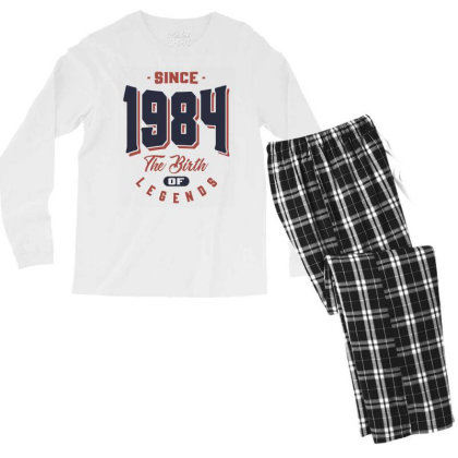 Since 1984 The Birth Of Legends Birthday Gift Men's Long Sleeve Pajama Set Designed By Cidolopez