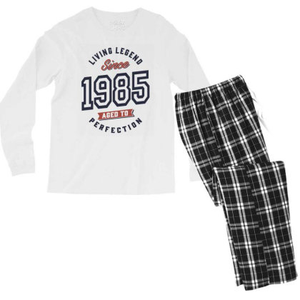 Living Legend Since 1985 Birthday Gift Men's Long Sleeve Pajama Set Designed By Cidolopez