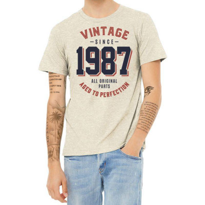 Vintage Since 1987 Birthday Gift Heather T-shirt Designed By Cidolopez