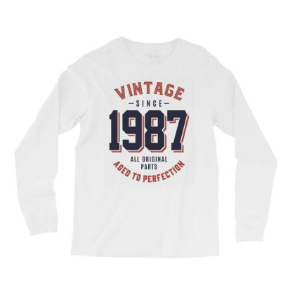 Vintage Since 1987 Birthday Gift Long Sleeve Shirts Designed By Cidolopez