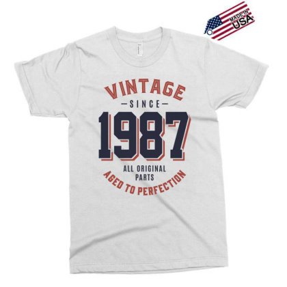 Vintage Since 1987 Birthday Gift Exclusive T-shirt Designed By Cidolopez