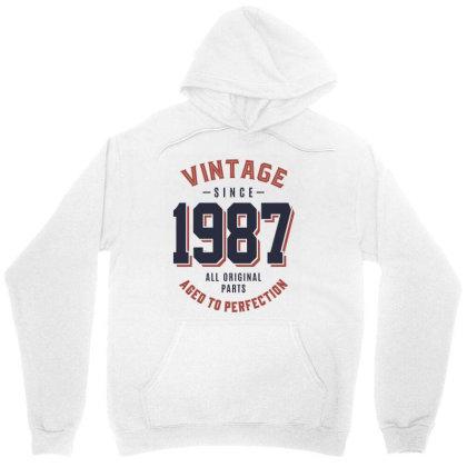 Vintage Since 1987 Birthday Gift Unisex Hoodie Designed By Cidolopez