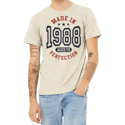 Made In 1988 Aged To Perfection Birthday Gift Heather T-shirt Designed By Cidolopez