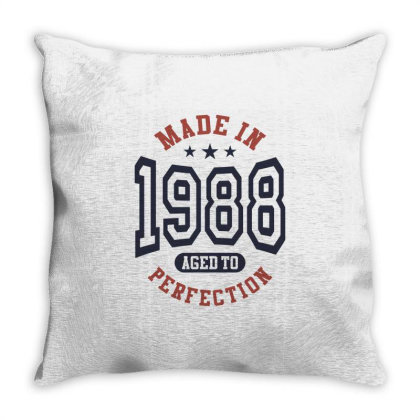 Made In 1988 Aged To Perfection Birthday Gift Throw Pillow Designed By Cidolopez