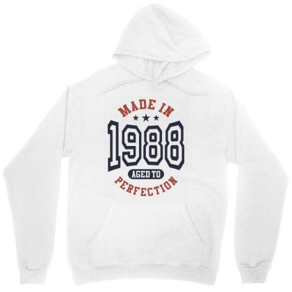 Made In 1988 Aged To Perfection Birthday Gift Unisex Hoodie Designed By Cidolopez