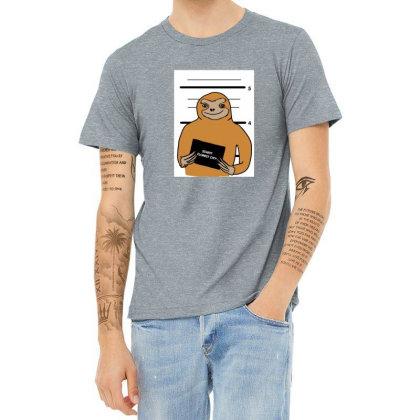 Sloth Stuck Heather T-shirt Designed By Cypryanus