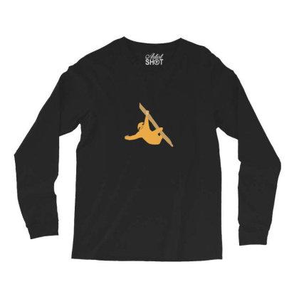 Sloth Orange Long Sleeve Shirts Designed By Cypryanus