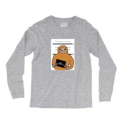Sloth Stuck Long Sleeve Shirts Designed By Cypryanus