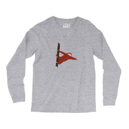 Sloth Red Long Sleeve Shirts Designed By Cypryanus