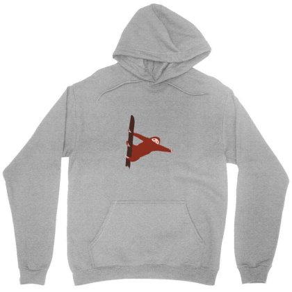 Sloth Red Unisex Hoodie Designed By Cypryanus