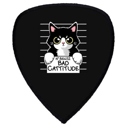 Bad Cattitude Shield S Patch Designed By Cuser3244