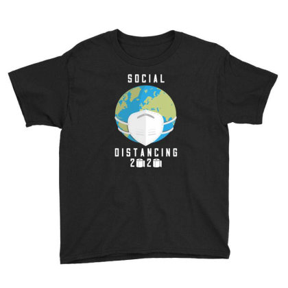 Social Distancing 2020 Shirt Youth Tee Designed By Faical