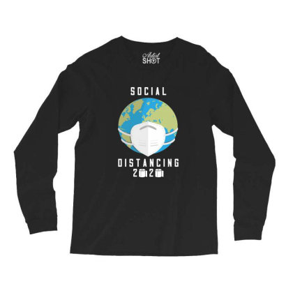 Social Distancing 2020 Shirt Long Sleeve Shirts Designed By Faical