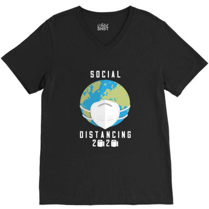 Social Distancing 2020 Shirt V-neck Tee Designed By Faical