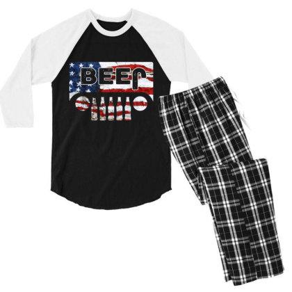 Jeep Beer Men's 3/4 Sleeve Pajama Set Designed By Kakashop