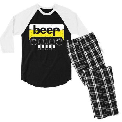Jeep Beer 1 Men's 3/4 Sleeve Pajama Set Designed By Kakashop